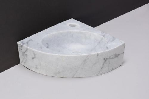 Naturstein Handwaschbecken TURINO Carrara poliert 30 cm