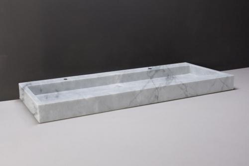 Naturstein Waschtisch PALERMO Carrara poliert