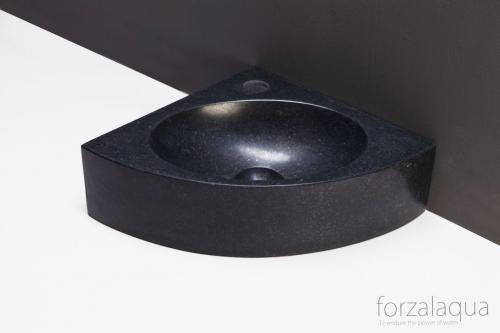 Naturstein Handwaschbecken TURINO Granit poliert 30 cm