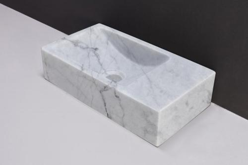 Naturstein Handwaschtisch VENETIA Carrara