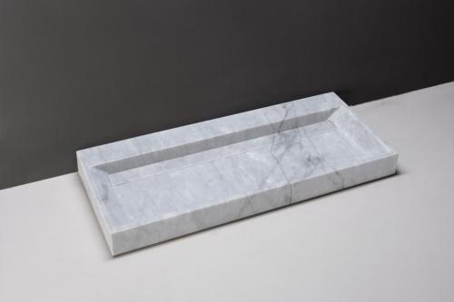 Naturstein Waschtisch BELLEZZA Carrara Marmor poliert