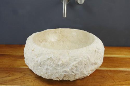 Natursteinwaschbecken Marmor rund 40 cm