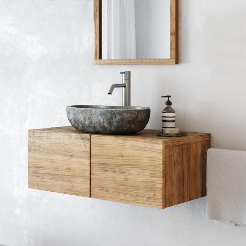 waschtischunterschrank finn aus massivholz h ngend 80 cm spa ambiente. Black Bedroom Furniture Sets. Home Design Ideas