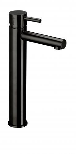 Herzbach Design iX PVD Waschtisch-Einlochbatterie mit erhöhtem Schaft ohne Ablaufgarnitur