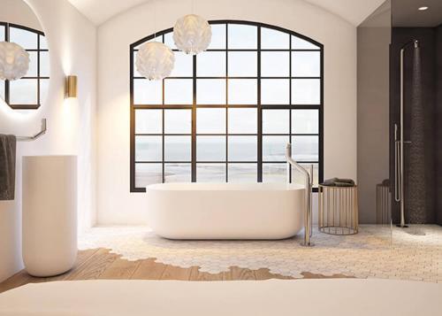 """flow bath"" freistehende Badewanne aus DADOquartz | JEE-O"
