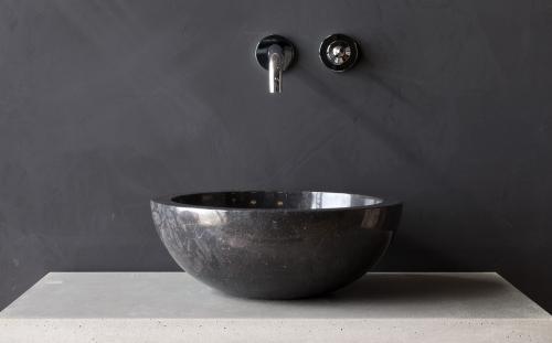 """Natursteinwaschbecken """"bowl"""" Marmor rund 40 cm"""