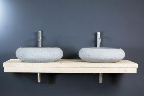 Waschtischplatte aus Bauholz