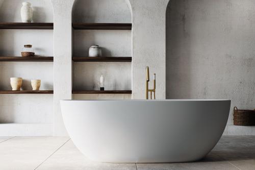"""""""Naima"""" freistehende Badewanne aus senstone® mit 5 Jahren Garantie   Lapidispa®"""
