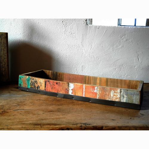 Kleines Tablett aus Bootsholz (Recycled Teak)