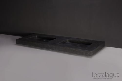 Naturstein Doppelwaschtisch NAPOLI BLUESTONE 160 cm matt poliert