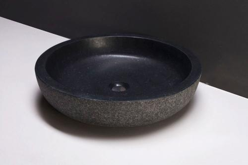 Naturstein Aufsatzwaschbecken VERONA Granit rund