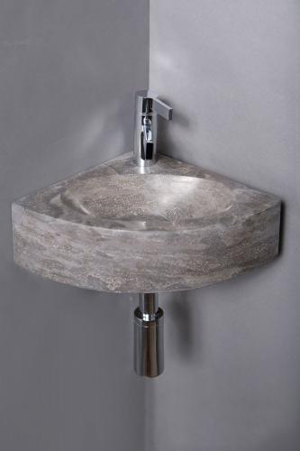 Naturstein Handwaschbecken TURINO BLUESTONE poliert 30 cm