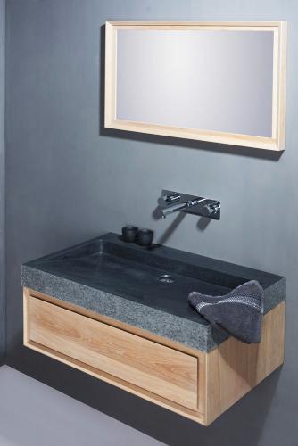 Naturstein Waschtisch PALERMO Granit gestockt
