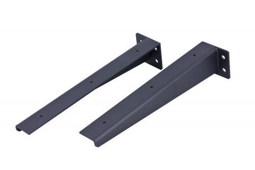 Stahlkonsolen für Waschtischplatten bis zu einer Tiefe von 60 cm (Set à 2 Stück)