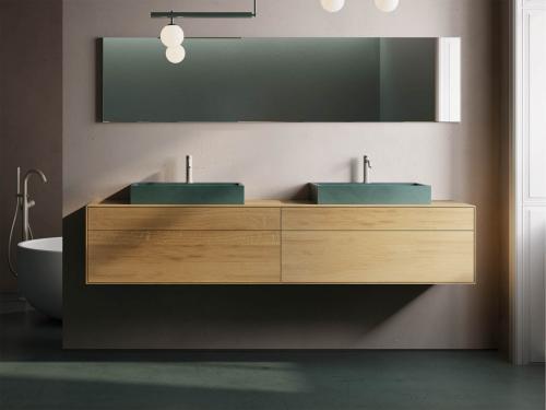 """""""Siro"""" Waschtischunterschrank aus Massivholz mit 4 Schubfächer   Lapidispa®"""