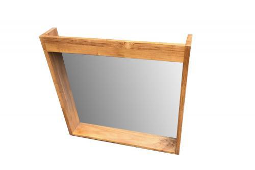 Spiegel aus Teak 140 cm mit Ablage und LED Vorrichtung