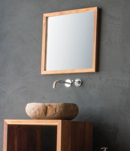 Teak spiegel co2 60x60 cm sale spa ambiente for Spiegel 60x60