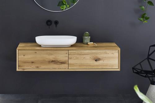 """""""Univo plus"""" Waschtischunterschrank aus Massivholz mit 2 Schubfächern   Lapidispa®"""