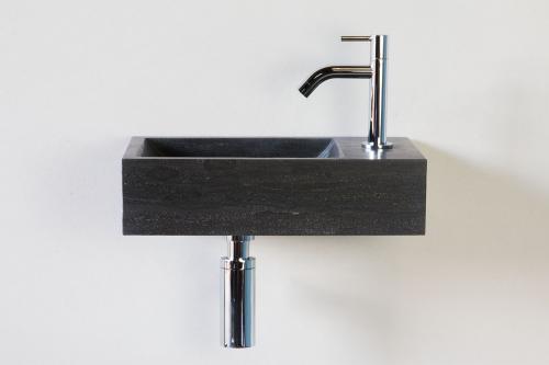 Naturstein Handwaschtisch VENETIA Bluestone rechteckig 40 cm