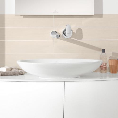 Villeroy & Boch Loop & Friends Aufsatzwaschtisch, oval weiß mit CeramicPlus ohne Überlauf