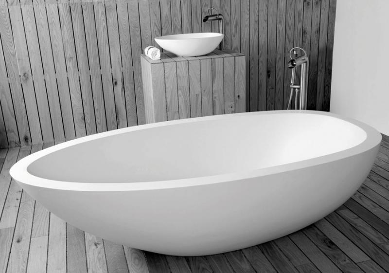 """Elaine"" freistehende Badewanne aus DADOquartz | JEE-O"