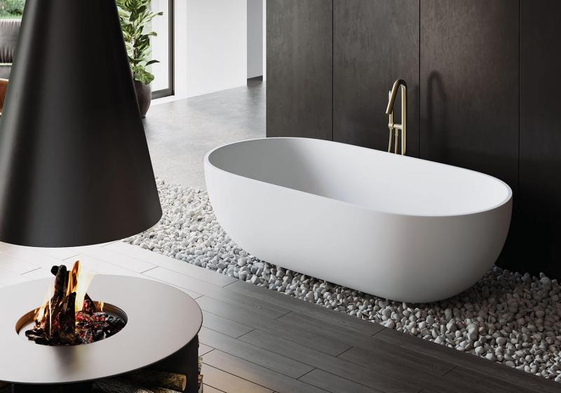"""""""Sita"""" freistehende Badewanne aus senstone® mit 5 Jahren Garantie   Lapidispa®"""