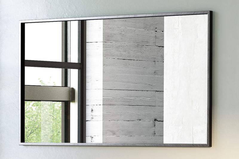 """""""Rooms"""" Spiegel rechteckig mit schwarzem Metallrahmen versch. Größen"""