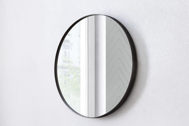 """""""Circle"""" Spiegel mit schwarzer Metallrahmen, versch. Größen 80 cm"""