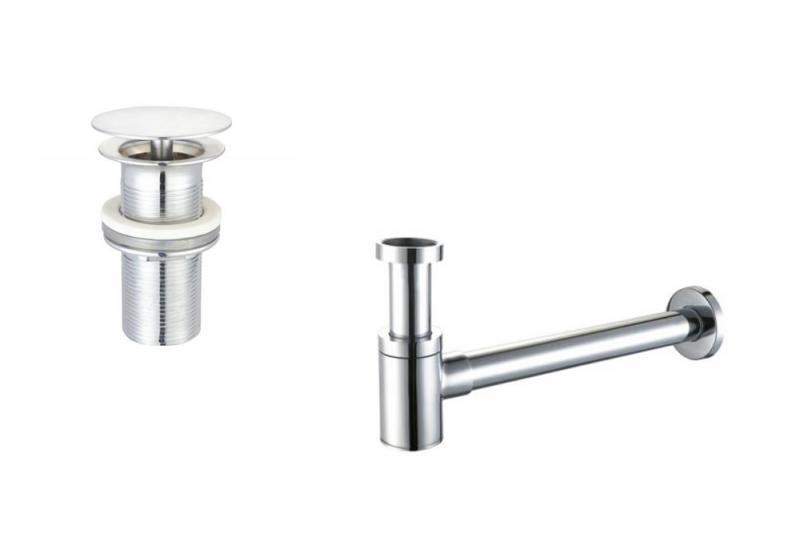 Design Ablaufventil & Siphon Set Messing verchromt |Spa Ambiente