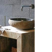 Badunterschrank Bauholz massiv