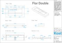Kast Betonwaschtisch Flor Double
