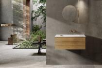 """""""Insa"""" Waschtischunterschrank 60 cm aus Massivholz mit Waschtisch aus Corian®   Lapidispa®"""