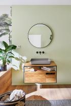 "Waschtischunterschrank ""PAION"" aus Massivholz + Metall | LAPIDISPA®"
