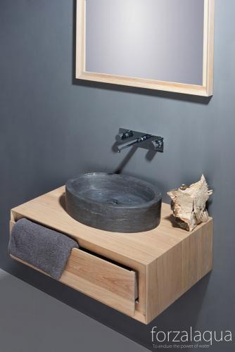 todi bad unterschrank h ngend mit 1 schublade aus eiche massivholz spa ambiente. Black Bedroom Furniture Sets. Home Design Ideas