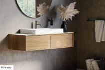 """""""Univo plus"""" Waschtischunterschrank aus Massivholz mit 2 Schubfächern von Lapidispa®"""