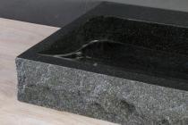Naturstein Waschtisch PALERMO Granit bossiert, innen poliert