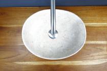 """Natursteinwaschbecken """"LEYLA"""" Marmor oval 40 cm"""