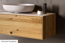 """""""Siro"""" Waschtischunterschrank aus Massivholz mit 1 Schubfach von Lapidispa®"""