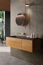 """""""Insa"""" Waschtischunterschrank aus Massivholz 90 cm mit Waschtisch aus Corian®   Lapidispa®"""