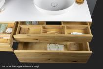 """""""Mero plus"""" Waschtischunterschrank aus Massivholz mit 4 Schubladen von Lapidispa®"""