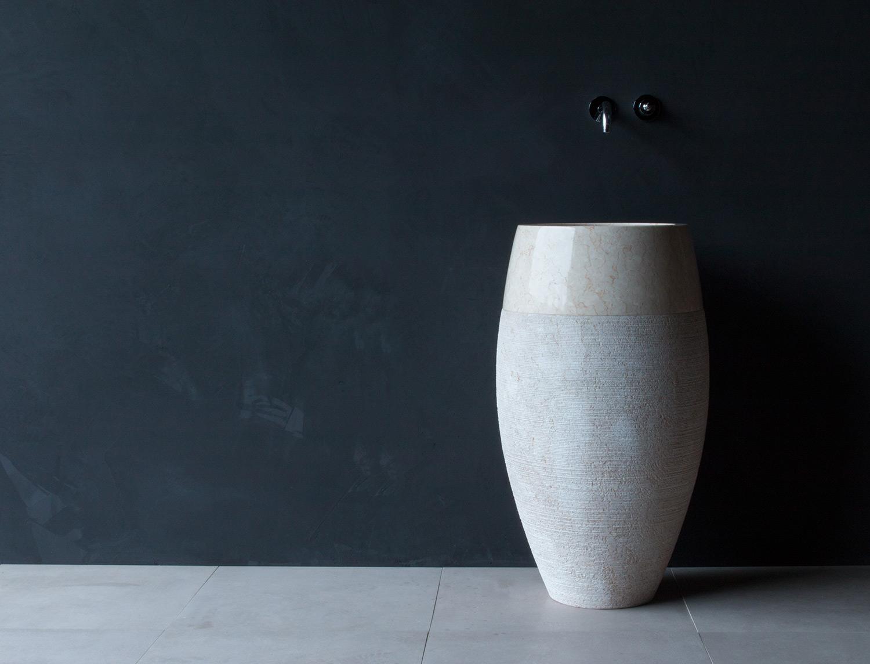 Waschtischsäule aus Marmor Ø 50cm - 2teilig