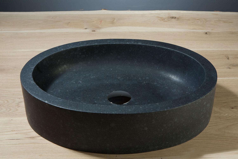 Naturstein aufsatzwaschbecken firenze basalt matt poliert for Aufsatzwaschbecken naturstein