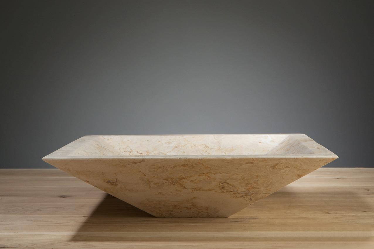 Naturstein aufsatzwaschbecken milano travertin matt poliert 45 cm spa ambiente - Aufsatzwaschbecken naturstein ...