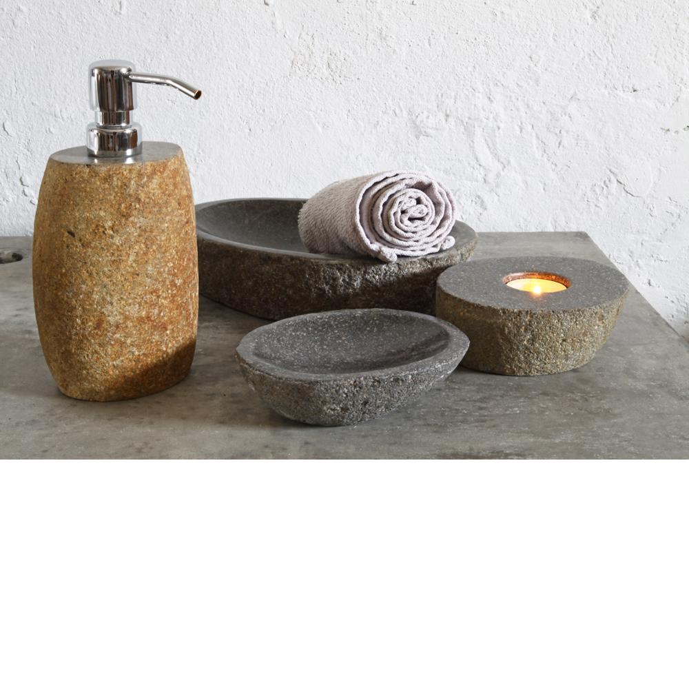 flussstein set 4 teilig spa ambiente. Black Bedroom Furniture Sets. Home Design Ideas