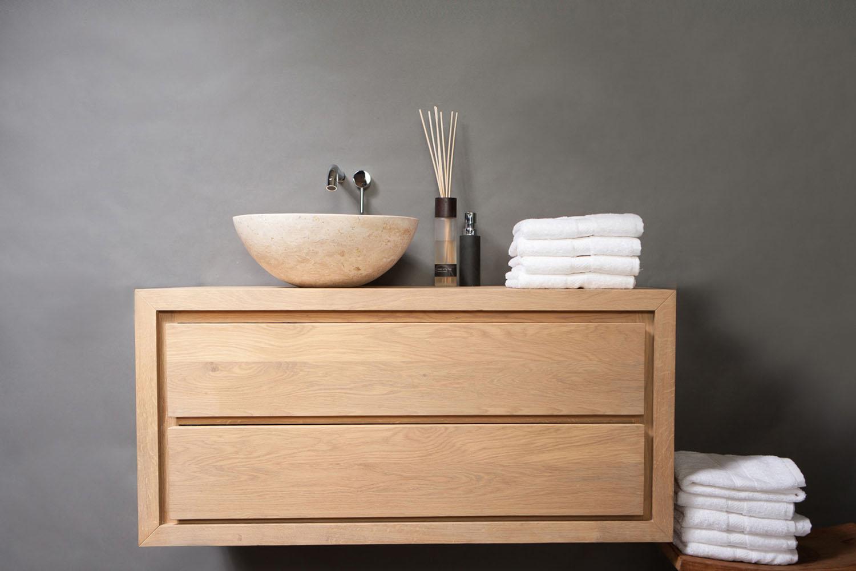 Naturstein Aufsatzwaschbecken ROMA TRAVERTIN 40 cm | Spa Ambiente | {Aufsatzwaschbecken mit unterschrank stehend 4}