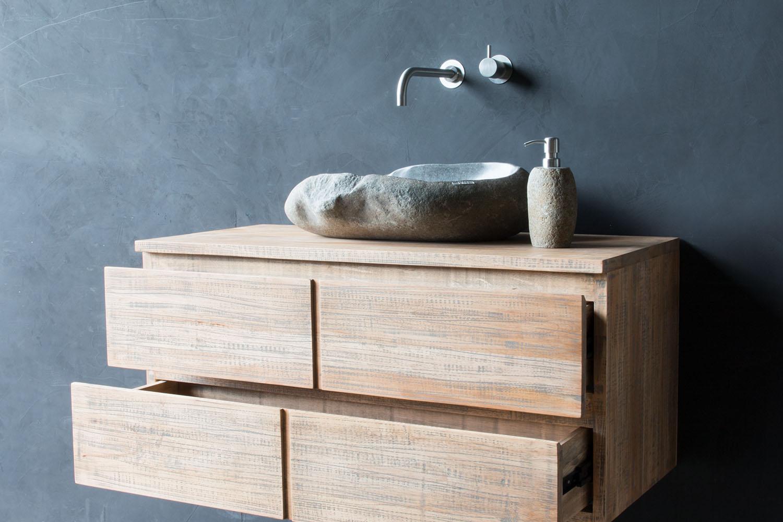 waschtischunterschrank h ngend jake 100 cm mit 2 gro en. Black Bedroom Furniture Sets. Home Design Ideas