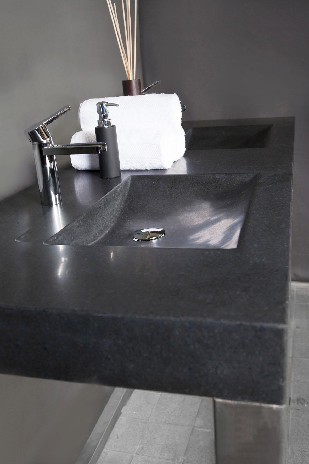 naturstein doppelwaschtisch napoli ii granit 160 cm matt poliert spa ambiente. Black Bedroom Furniture Sets. Home Design Ideas