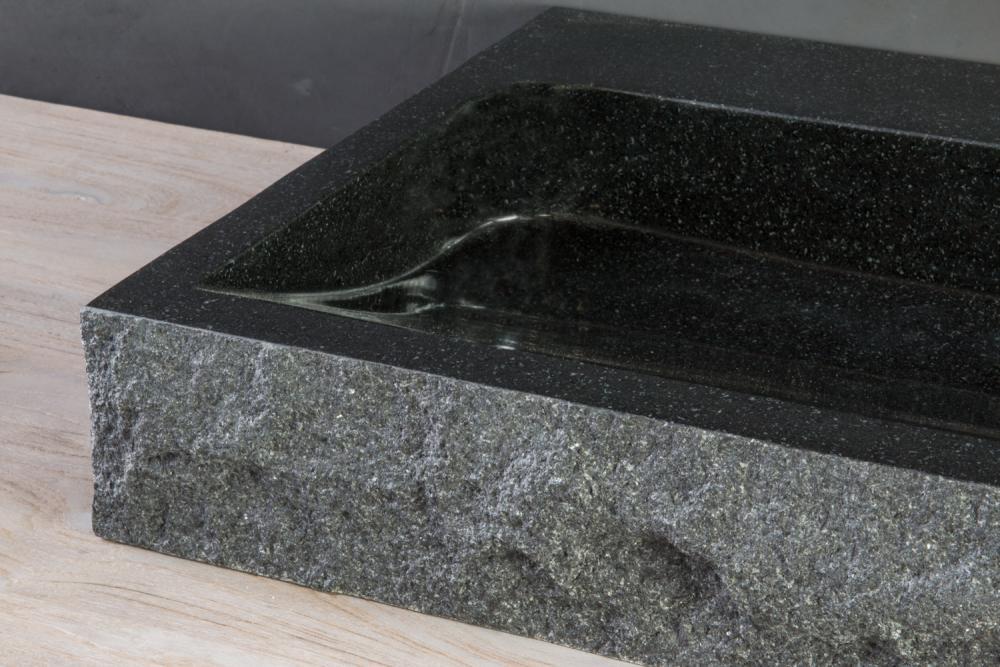 naturstein waschtisch palermo granit bossiert spa ambiente. Black Bedroom Furniture Sets. Home Design Ideas