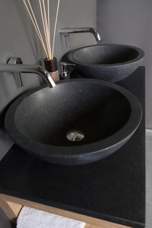 Naturstein aufsatzwaschbecken roma granit 40 cm spa ambiente for Aufsatzwaschbecken naturstein