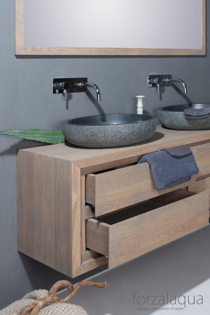 waschbeckenunterschrank gela h ngend aus eiche massivholz 4 schubladen 180 x 51 x 50 farbe. Black Bedroom Furniture Sets. Home Design Ideas